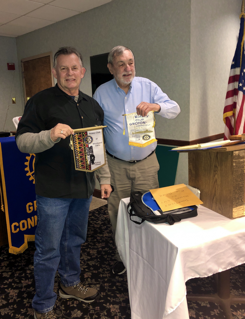 December 2019 GRC Meeting- Rotarian Guest from Hawaii