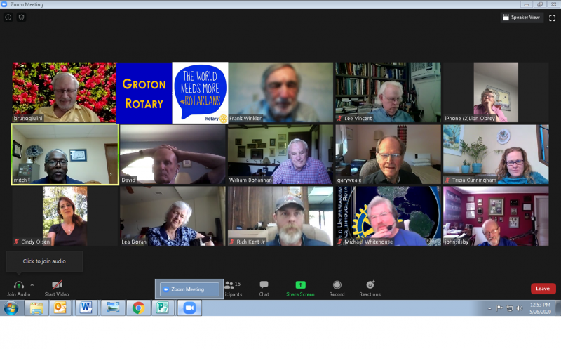 May 2020 Groton Rotary Club Virtual Meeting